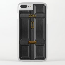 Sherlock Holmes 221b Baker Street Clear iPhone Case