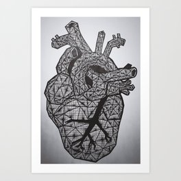 Black Heart Art Print