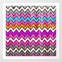 Andes Tribal Aztec Pink chevron Ikat wood pattern by girlytrend