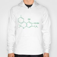 cannabis Hoodies featuring Cannabis Chemistry: THC by WeedPornDaily