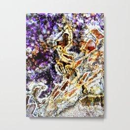 Crystal Texture Amethyst Metal Print