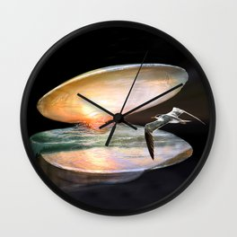 Sun in the shell Wall Clock