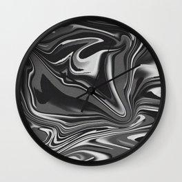noisy black and white glitch Wall Clock