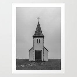 Old Church in Iceland Art Print
