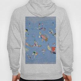 Sky Blue Painting By Wassily Kandinsky Hoody