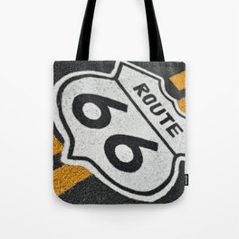 Route 66 sign. Tote Bag
