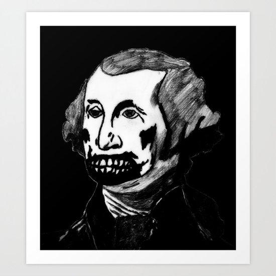 01. Zombie George Washington Art Print