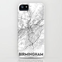 Minimal City Maps - Map Of Birmingham, Alabama, United States iPhone Case