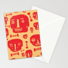 Skulls & Bones - Red/Yellow Stationery Cards