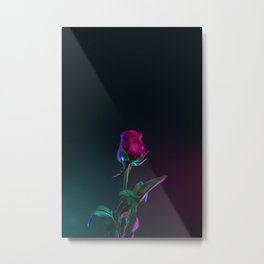 lonely rose Metal Print