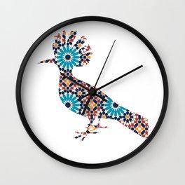 MOHAWK BIRD SILHOUETTE WITH PATTERN Wall Clock