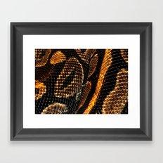 SNAKING Framed Art Print
