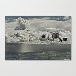 Stormy approach Canvas Print