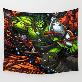 green rampage Wall Tapestry