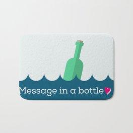 Message in a bottle Bath Mat