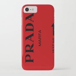 Marfa print in red and black iPhone Case
