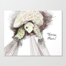 Tortoise power! Canvas Print
