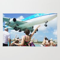 airplane Area & Throw Rugs featuring Airplane! by Noah Bolanowski