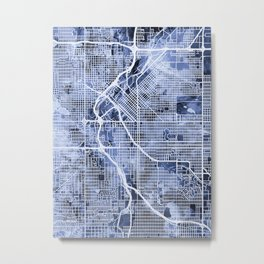 Denver Colorado Street Map Metal Print