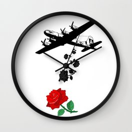 Falling roses over you - Falling in love - Pop Culture Wall Clock