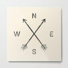 Compass (Natural) Metal Print