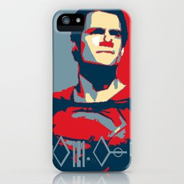 "Superman ""Hope"" Poster (Kryptonian) iPhone Case"