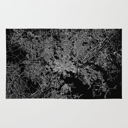 Baltimore map Maryland Rug