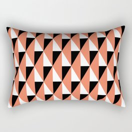 Geometric Pattern #78 (salmon pink triangles) Rectangular Pillow