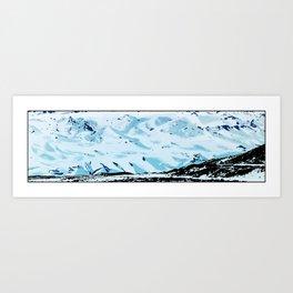 The glacier, Sólheimajökull Art Print