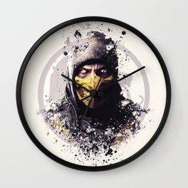 MK X, Scorpion splatter Wall Clock