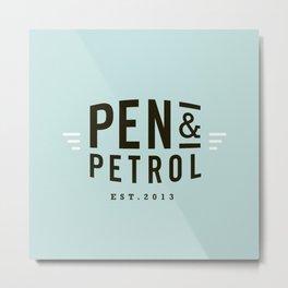 Pen & Petrol Metal Print