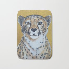 Cheetas, acrylic on canvas Bath Mat