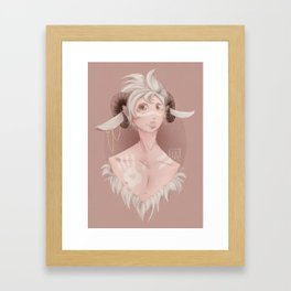 Curly horns Framed Art Print