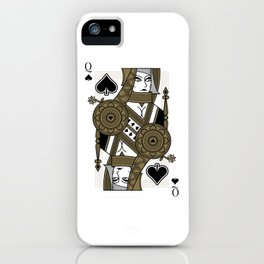Omnia Oscura Queen of Spades iPhone Case