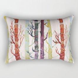 Color Birch Trees Rectangular Pillow