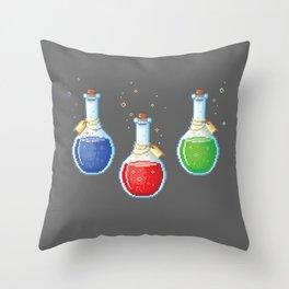 Pixel Potions Throw Pillow