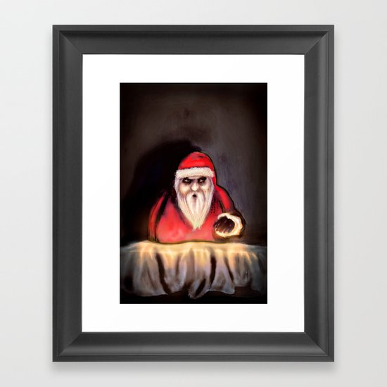 Black Xmas: Santa Claus is Here Framed Art Print