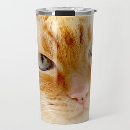 Cat with the blue eyes, cat face print Travel Mug