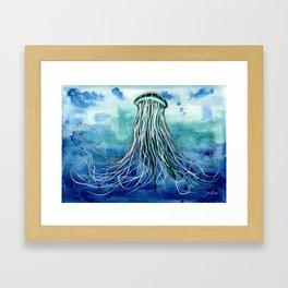 Emperor Jellyfish Framed Art Print