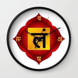 Muladhara Chakra Wall Clock