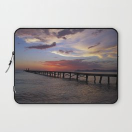 Anglers in the sunrise at the sea Laptop Sleeve