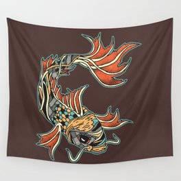 Bio-Mechanical Koi Wall Tapestry