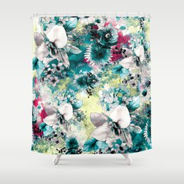 Blue Garden Shower Curtain