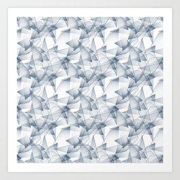 Abstract pattern.the effect of broken glass. Art Print