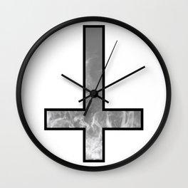 Inverted cross - Smoke Wall Clock