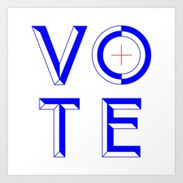 Vote Baby Vote 040316 Art Print
