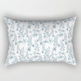 Winter patterns in blue. Rectangular Pillow