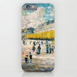Classical Masterpiece 'Palace of the Tuileries on the Seine River, Paris' by Frederick Childe Hassam iPhone Case