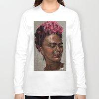 frida Long Sleeve T-shirts featuring Frida by Absolem Studio