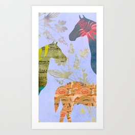 Chinese Lunar New Year and 12 animals  ❤  The HORSE 馬 Art Print